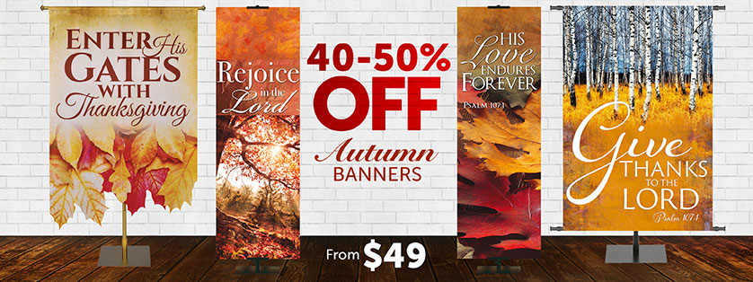 Thanksgiving Church Banners 40-50% Off