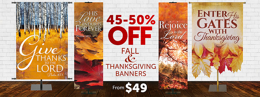 Thanksgiving Church Banners 45-50% Off