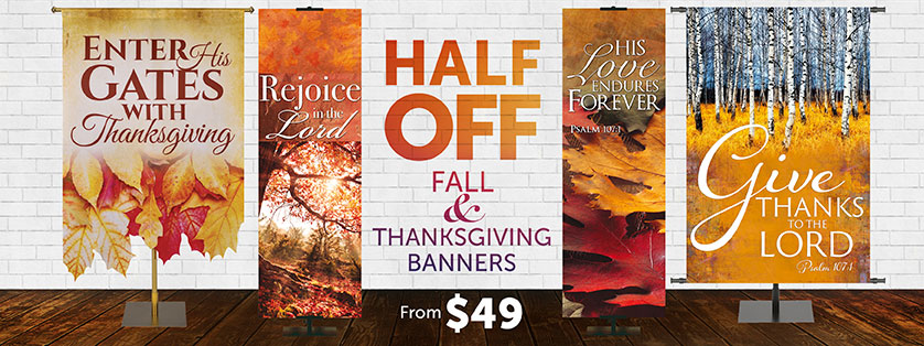 Thanksgiving Church Banners 50% Off
