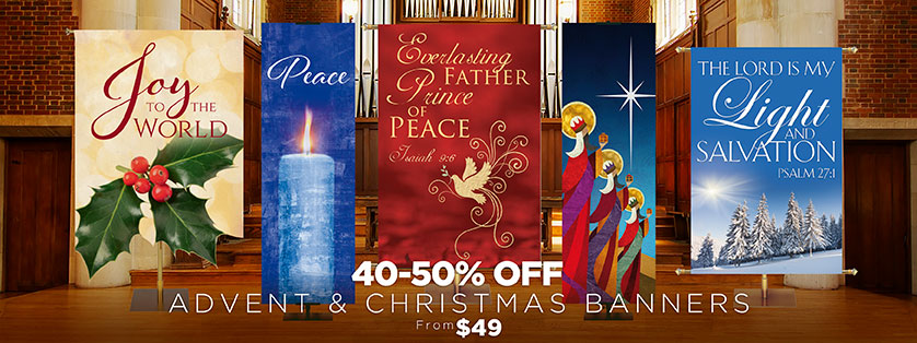 Church Banners for Christmas 40-50% Off