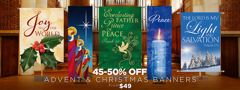 Church Banners for Christmas 45-50% Off