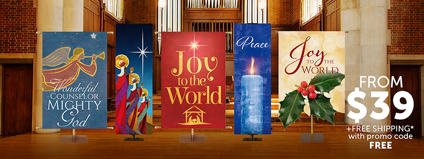 Church Christmas Banner Sale
