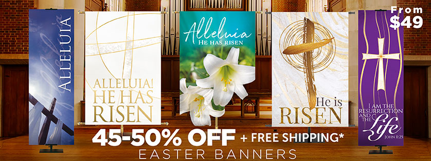 50% Off East Church BAnners