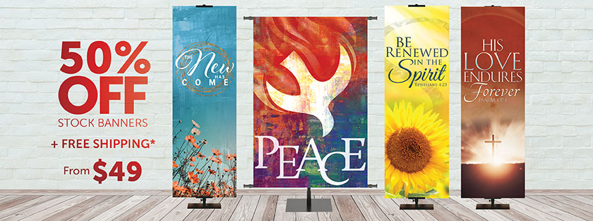 Church Banners 50% Off